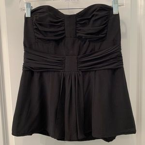 Nanette Lepore Black Rouched Tube Top